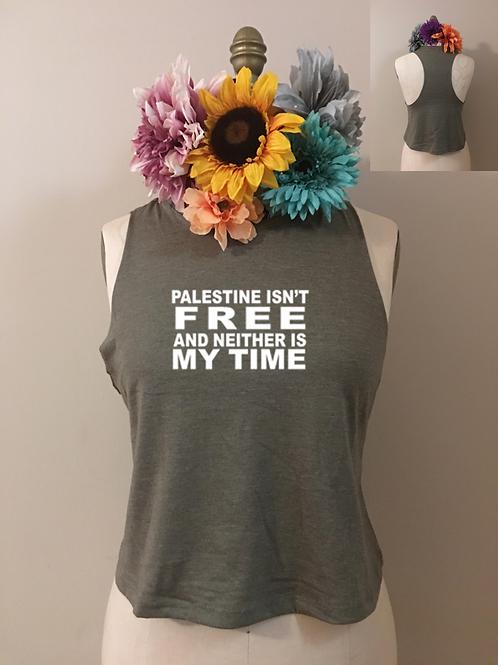 Free Palestine Crop Tank