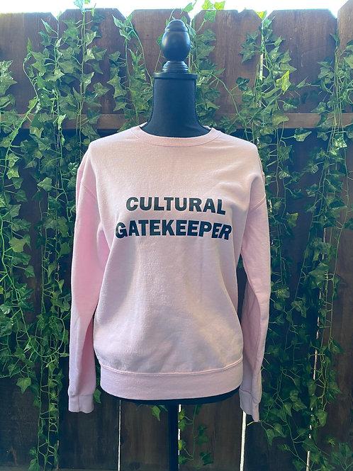 "Cultural Gatekeeper ""Sm"" Pink Sweatshirt"