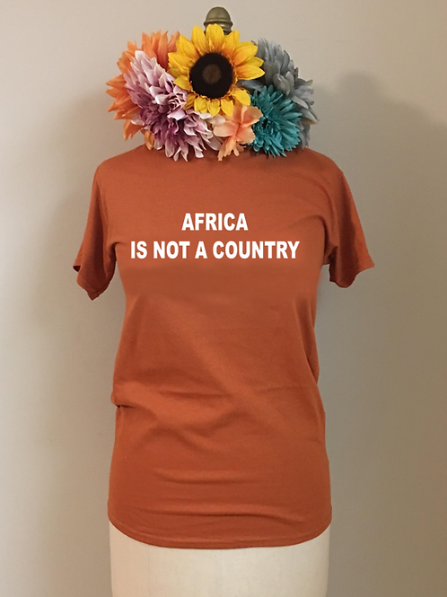 Africa is Not a Country Crewneck T-Shirt