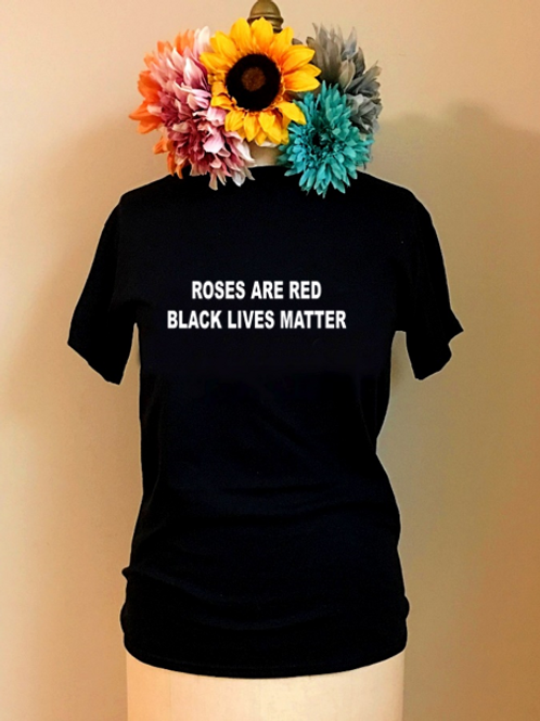 Roses Are Red, BLM Valentine's Day Crewneck T-shirt