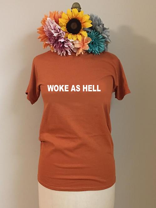 Woke As Hell Crewneck T-Shirt