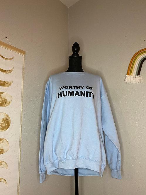 Worth of Humanity Crewneck L (Glitter)