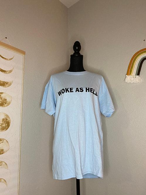 Woke As Hell T-Shirt L (Glitter)
