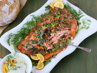 Spring Celebration Lemon Dill Smoked Salmon with Creamy Dill Dip