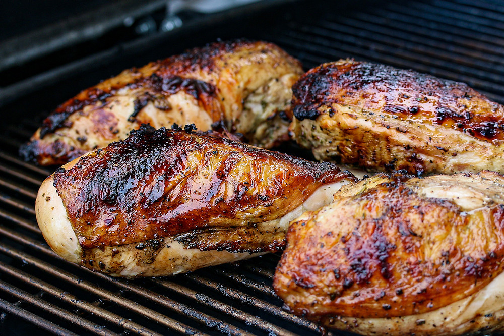 How to grill chicken breasts.