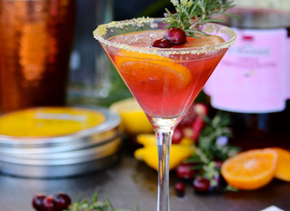 Holiday Fruit Champagne Martini