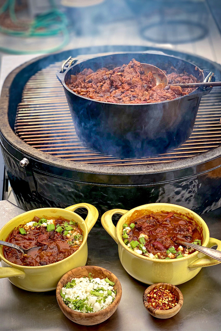Smoked Chuck Roast Chili with Red Wine