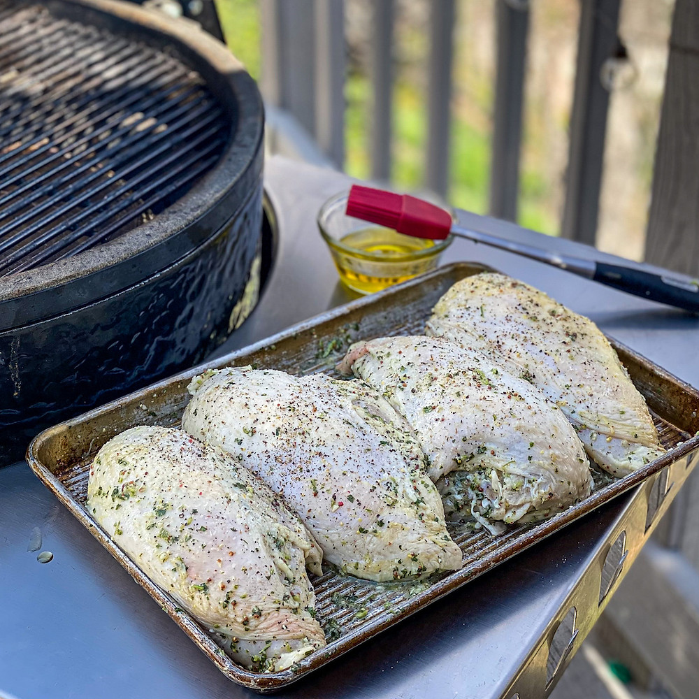 Lemon and Herb Marinade for smoked chicken.