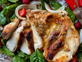 Chipotle Garlic Chicken on Baby Swiss Chard