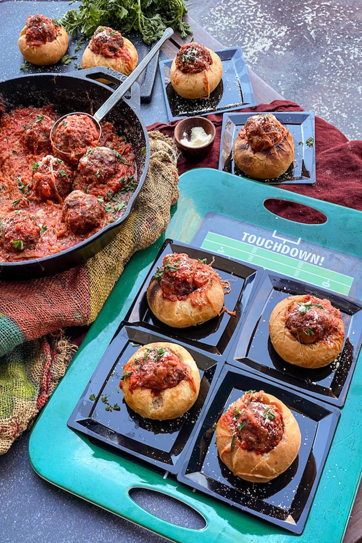 Primo Smoked Meatballs Stuffed into a Mini Roll