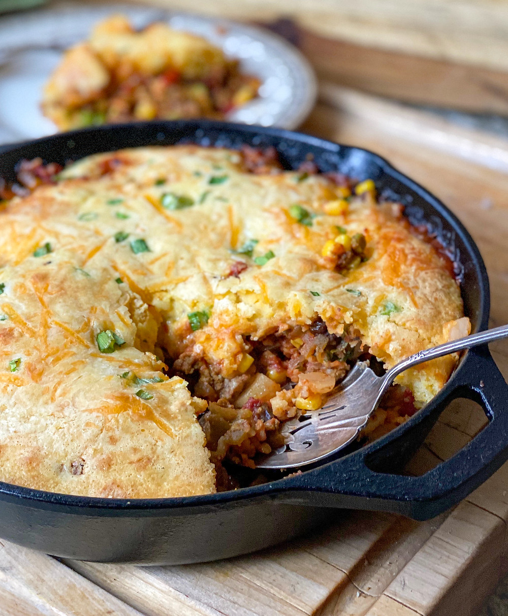 Tamale Pie with Chorizo Aussie Beef or Lamb