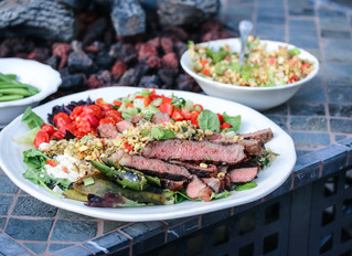Let's Splash! Grilled Aussie Grassfed Steaks and Roasted Corn Salad