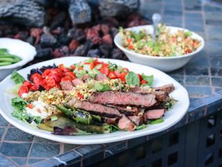 Let's Splash! Grilled Aussie Grassfed Steaks and Roasted Corn Salad