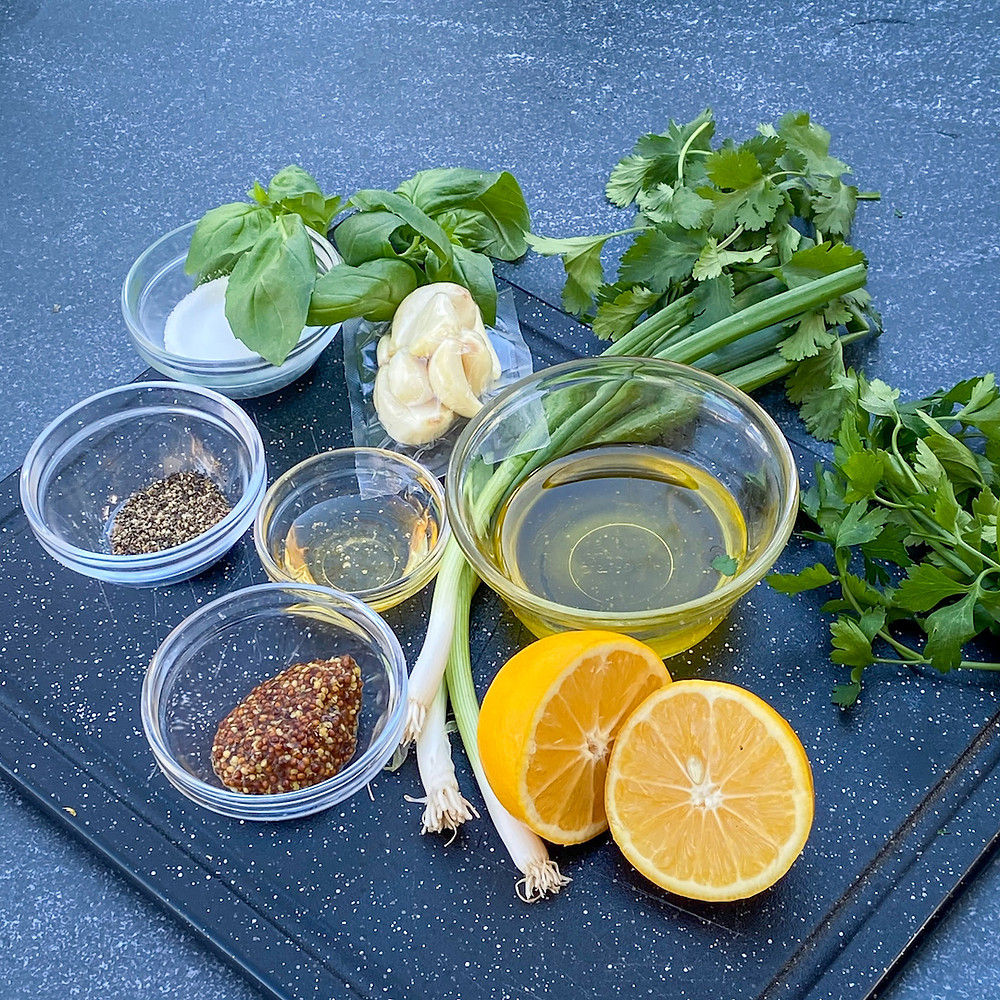 Herb and Lemon Marinade for smoked chicken.