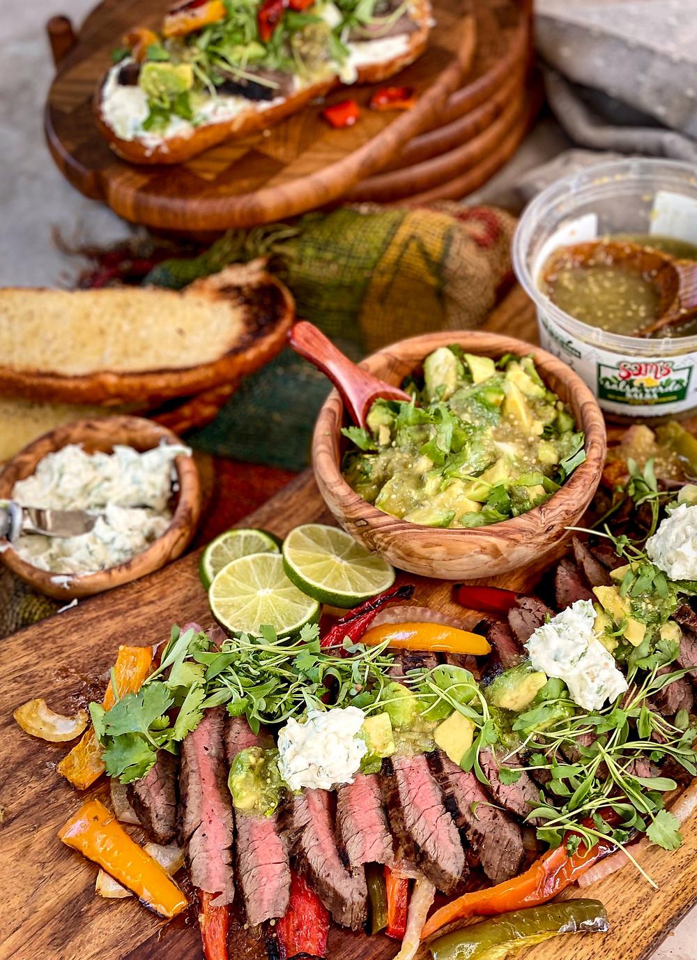 Salsa Verde Flank Steak Sandwiches