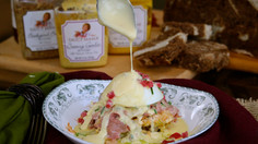 Reuben-Style Eggs Benedict