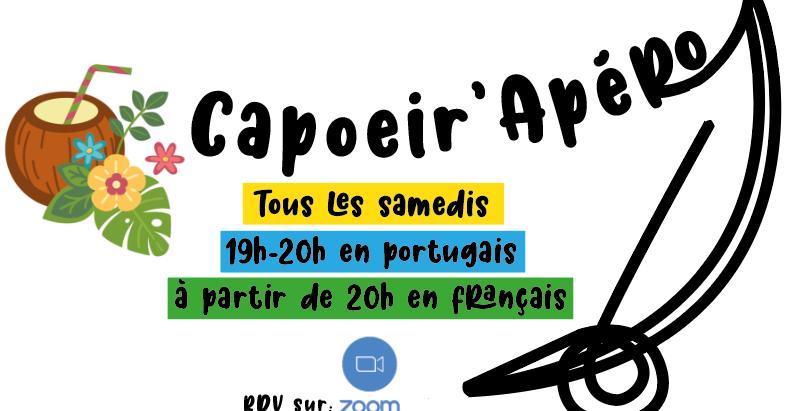 CapoeirApéro, tous les samedis soir durant le confinement et restrictions de déplacement.