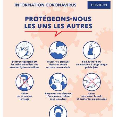 Les précautions pour les cours en salle et en extérieur