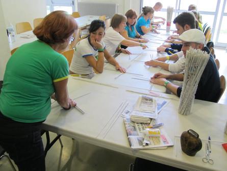 Cours d'artisanat avec Suely Marques, artisaine brésilienne.