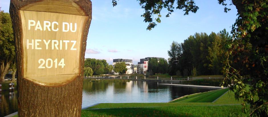 Aujourd'hui nous seront au Parc du Heyritz pour notre cours hebdomadaire de capoeira