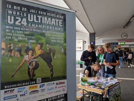 Helfen am Empfang von Frisbeeteams aus aller Welt zur U24 Weltmeisterschaft 2019 in Heidelberg