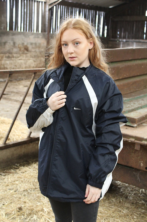 Nike Navy & White Tracksuit Top