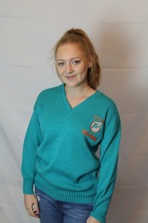 NFL Miami Dolphins Teal Sweater