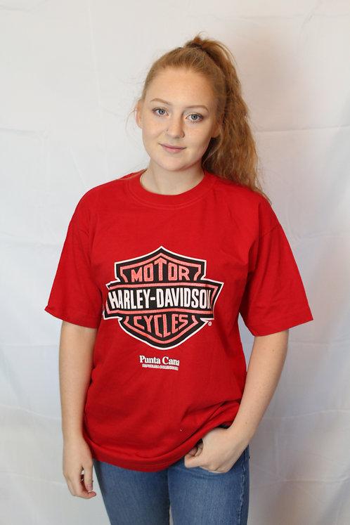 Harley Davidson Inspired Red 'Punta Canta' T-Shirt