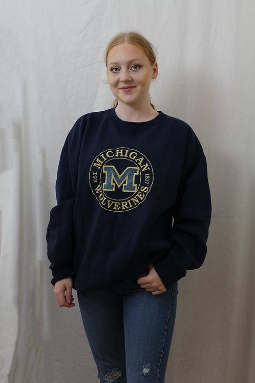 Navy 'Michigan Wolverines' Sweater