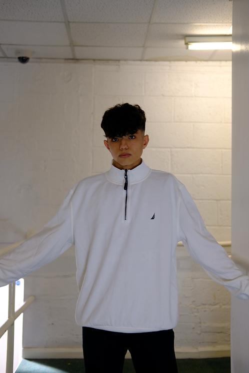 Nautica White 1/4 Zip Sweater