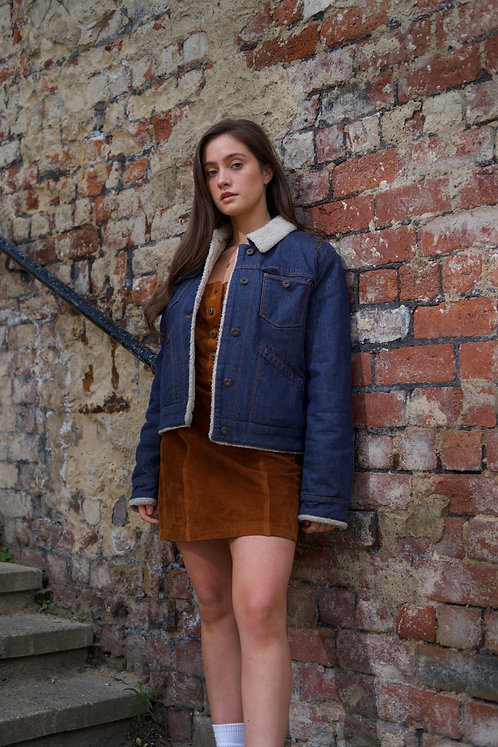 Bomb Boogie Suede Pinafore
