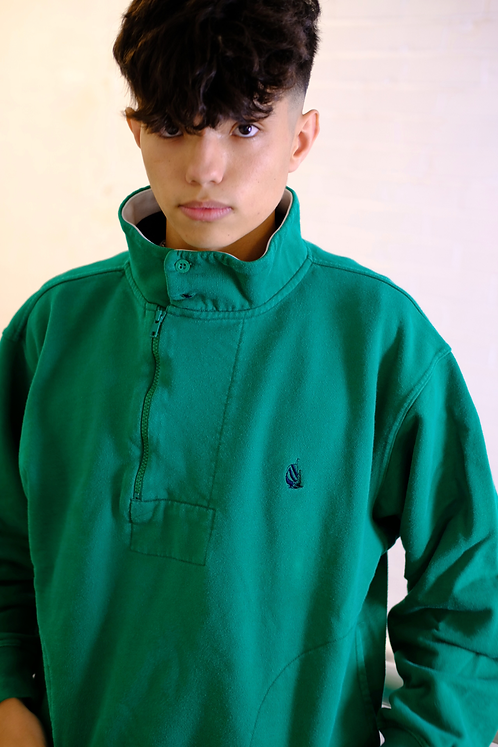 Nautica Green 1/4 Zip Sweater