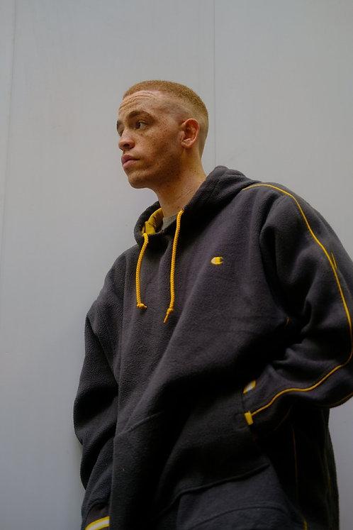 Champion Grey and Yellow Fleece with Hood