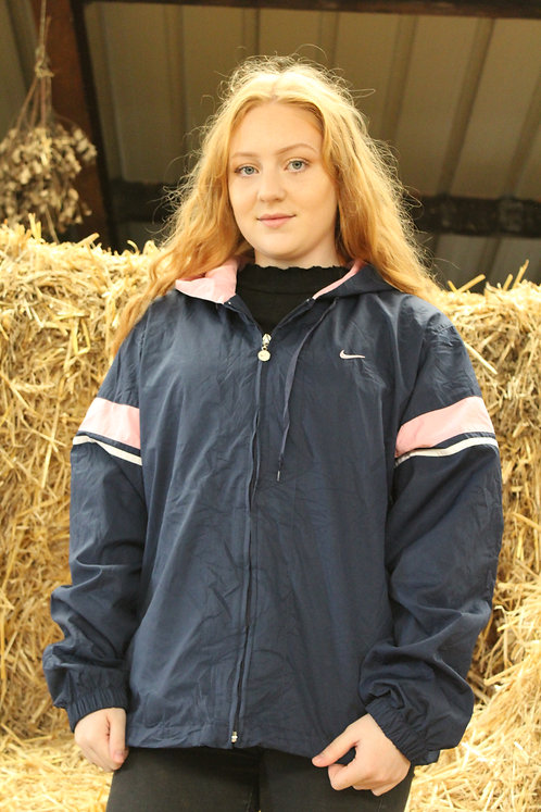 Nike Navy & Pink Tracksuit Top