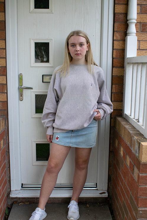 Reworked Levis Denim Mini Skirt