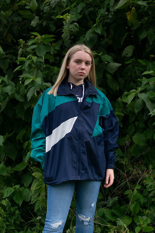 Vintage Windbreaker (Navy, White, Green)