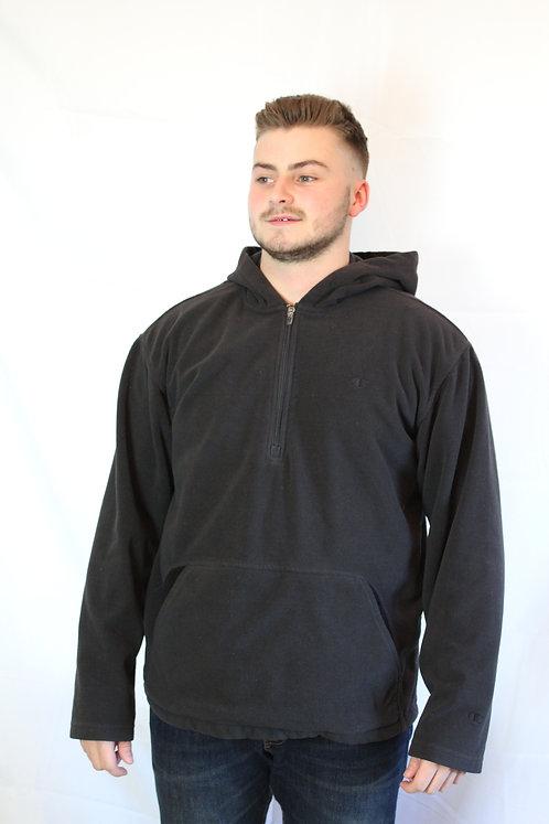 Champion Hooded Black Fleece