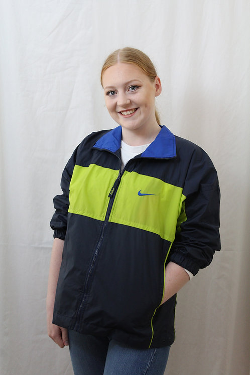 Nike Navy & Lime Tracksuit Top