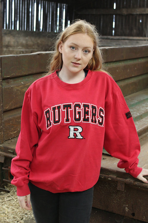 Vintage Red 'Rutgers' Sweater