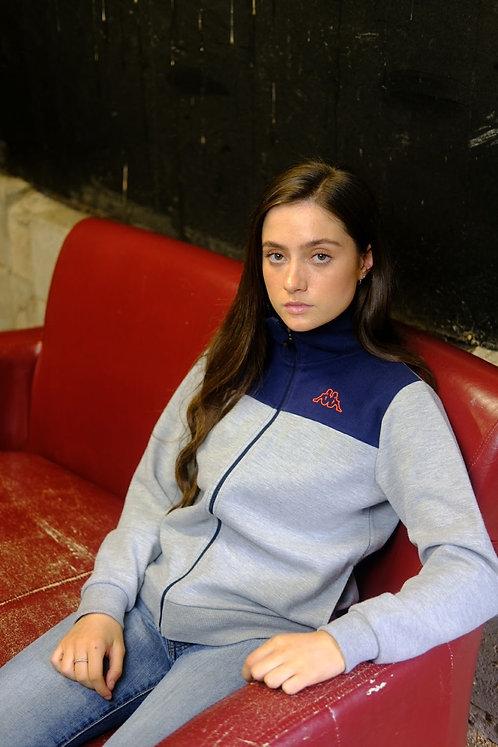 Kappa Navy & Grey Zip Up Sweater