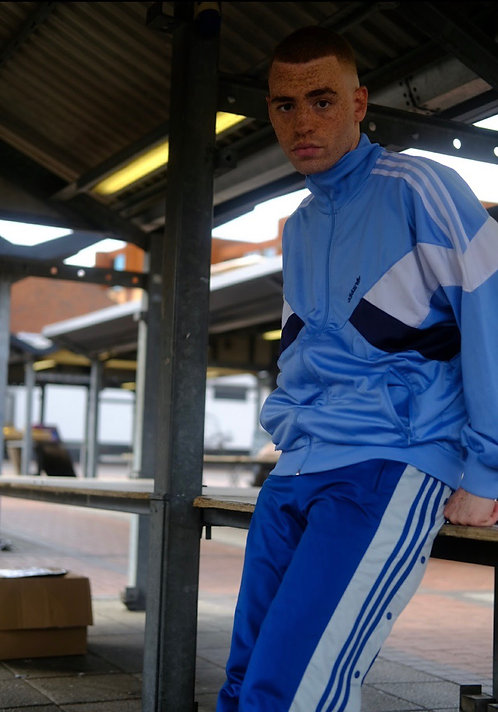Adidas Blue, Navy & White Tracksuit Top