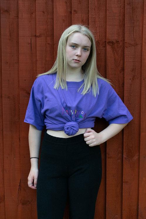 Vintage 'Alaska' Purple T-Shirt