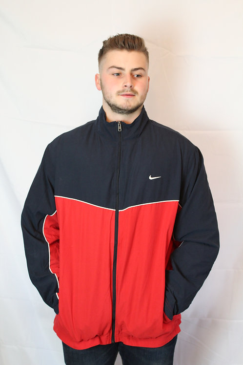 Nike Red & Navy Tracksuit Top