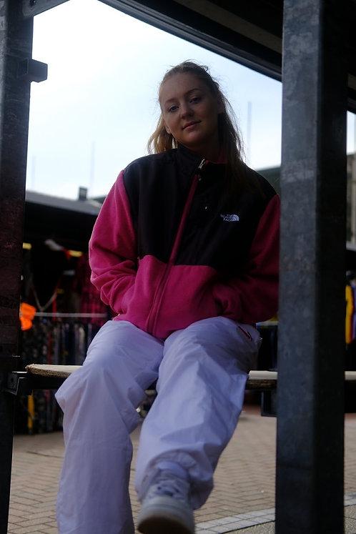 North Face Hot Pink Fleeced Jacket