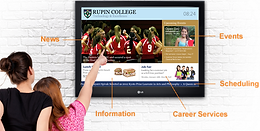 Digital signage for schools design