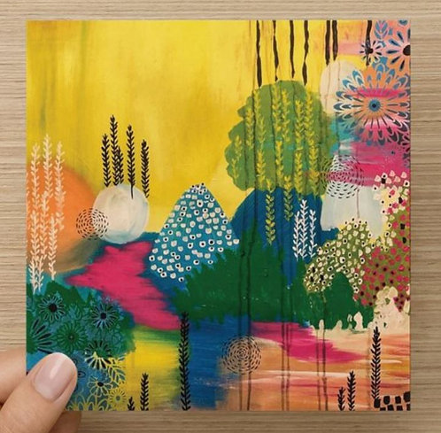 A Colorful Landscape Blank Greeting Card and Envelope