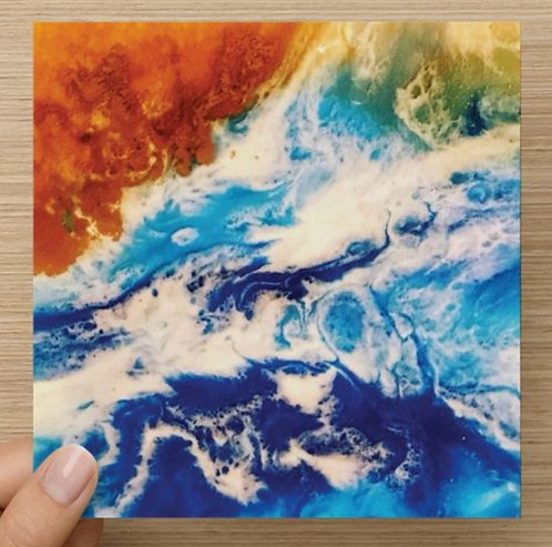 From Above the Ocean Blank Greeting Card and Envelope