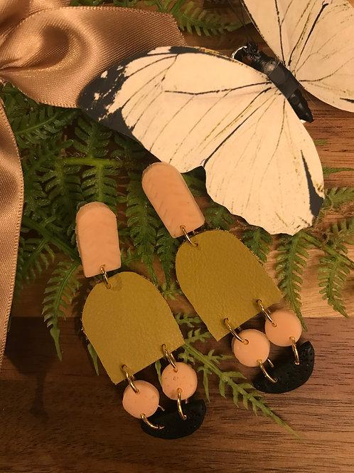 Pretty set of hand made earrings