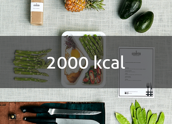 2000 kcal - 1 dzień