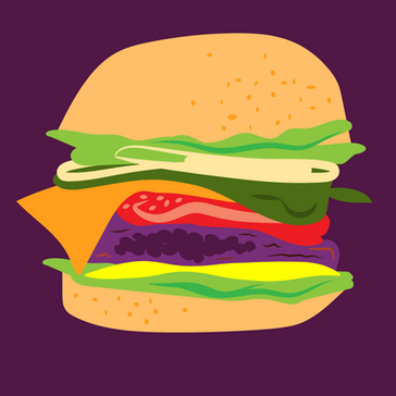 Burger Month Illustration